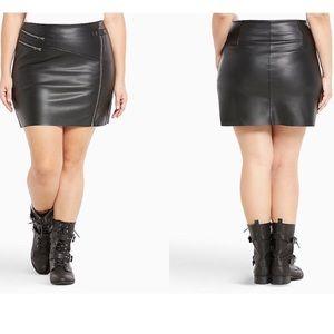 Torrid Faux Leather Skirt 1